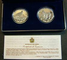 1996 San Marino Lire 5000 + 10000 Mondo Animale in Pericolo     Proof   Box Coa