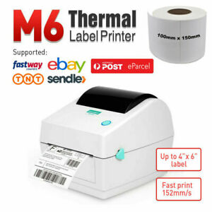 Label Printer Thermal Shipping Address Barcode 4*6 150*100mm 1 Roll Label Paper