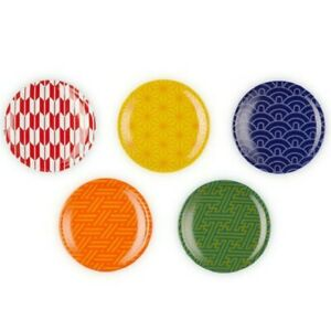 Le Creuset Mini Round Plate Wagara Collection 5 Sheets G1473