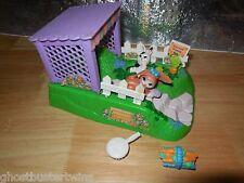 VINTAGE KENNER LITTLEST PET SHOP 1995 PETS ON MOVE HOP HIDE BUNNIES PLAYSET LOT
