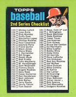 1971 Topps - 2nd Series Checklist Card (#123)  EX-NrMT