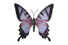 Large Metal Butterfly Pink and Black Outdoor Garden Home Decoration Wall Art
