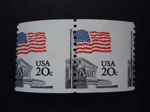 """#1895a 20c Flag  EFO Misperforated Pair MNH OG """"Include New Mount"""""""
