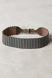 NIP Anthropologie Tabbed Corset Belt, S, M, Leather Stretch Belt, unique
