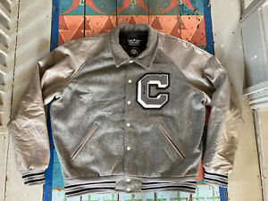 Vintage Varsity Wool Bomber Jacket 90s Oversized Letterman Baseball XL Large