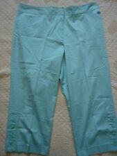 Womens 22 Dressbarn Aqua Blue Capri Cropped Pants