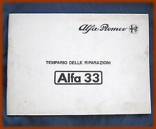 ALFA ROMEO 33 - TEMPARIO DELLE RIPARAZIONI