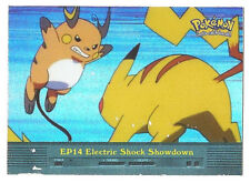 Chrome/Holo EP14 Electric Shock Showdown Topps Pokemon Series 2 (Blue Logo) MP