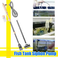 Electric Aquarium Gravel Cleaner Fish Tank Wash Water Changer Pump Filter Us