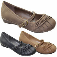 WOMENS COMFORT CASUAL WORK SHOES LADIES FLAT BALLERI0NA GIRLS DOLLY SLIPPERS