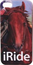 """I RIDE""  Horse, Cowboy  iPhone 4 Case, Flexible Cover"