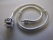 20cm 925 STERLING SILVER PLATED/ STAMPED SNAKE CHAINS EURO STYLE CHARM BRACELETS