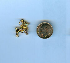 Poodle 24kt Gold Plated 3D Dog Charm for Making Bracelet Jewelry