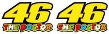 x2 Valentino Rossi The Doctor 46 Motorcycle Vinyl Decal Sticker 100mm 07