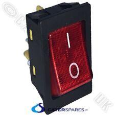 16A Klares Weiss Neon Wippschalter Strom an Off Zweipolig 4-polig 25X25 Quadrat