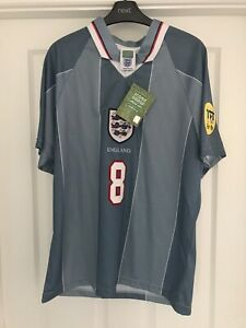 England 🏴 Away Retro Football Shirt Gascoigne Medium Euro 96 BNWT