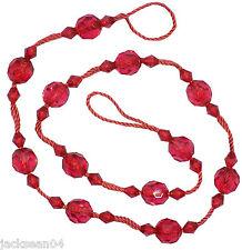 2 x Rouge Perlé rideaux rideaux voiles filets attache-rideaux 71.1cm - 72cm IWT