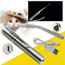 USB Charge Flashlight Cat LED Laser Toy Kitten Pointer Light Pen Night Hunting
