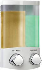Croydex euro DUO 2 sezioni Bianco montaggio a parete doppia SHAMPOO SAPONE DISPENSER