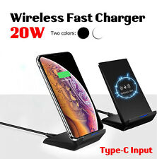 Bakeey 20W Double Coil Fast Charging Qi Wireless Charger Dock Pad Stand iPhone