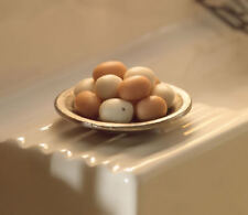 Eggs In A Metal Bowl, Dolls House Miniature, Kitchen Dining