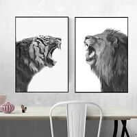 Lion Tiger Roar Angry Prints Unframed Print Poster Wall Decor Gift