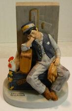Vintage Danbury Mint Norman Rockwell Porcelain Asleep On The Job Figurine