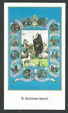 estampa San Antonio Abad santino holy card image pieuse