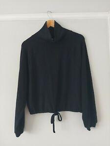 Anthropologie Saturday Sunday Black Drawstring Pullover BNWT Size Xs RRP £70