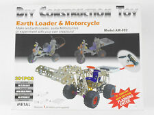 DIY Toy Metallbaukasten Radlader Motorcycle Solarmodell TOP OVP 1607-03-90