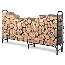 8-Foot Firewood Log Rack HEAVY DUTY FIREWOOD STORAGE !