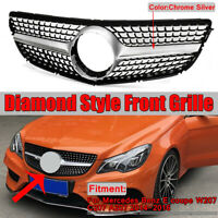 Diamond Style Front Grille Grill for 14-16 Mercedes E Class W207 C207 COUPE
