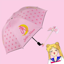 Sailor Moon Sunny Umbrella Princess Anti-UV Shade Creative Girls Pink Gift 2018