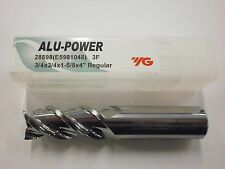 "1pc) YG1 3/4"" ALU-POWER Carbide End Mill for Aluminum YG-1 .750 3FL 28598"