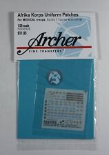 Archer 1/35 DAK Afrika Korps Heer Uniform Patches for Medical Troops FG35052E