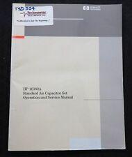 Hewlett Packard Hp 16380A Standard Air Capacitor Set Operating & Service Manual