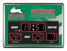 26412 SOUTH SYDNEY RABBITOHS NRL SCOREBOARD CLOCK LED DATE TIME THERMOMETER