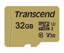 TRANSCEND 500S MICRO SD 32 GB CLASS 10 U3 FLASH MEMORY CARD NEW st