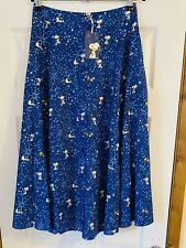 More details for new cath kidston peanuts snoopy midi skirt uk 10 bnwt
