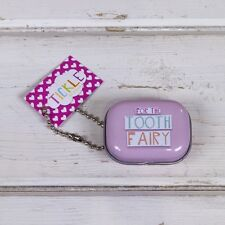 FOR THE TOOTH FAIRY Tin small teeth container Pink Great fun child gift New