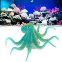 Fake Artificial Fluorescent Simulation Octopus Aquarium Tank Decor Fish Lum D8E3