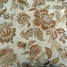 P KAUFMANN IN/OUTDOOR FLORAL BEIGE UPHOLSTERY FABRIC $6.99/YD BY THE YD 325FS