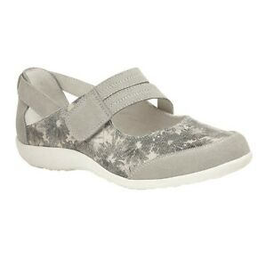 Boulevard wide touch fastening Bar Shoe EEE Fit Style L410 Col Grey Floral 3-9