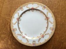 """Wedgwood bone china 9"""" luncheon plate gold roses and swags X6133"""