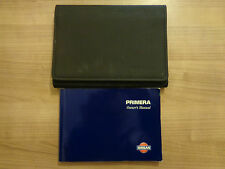 Nissan Primera Owners Handbook/Manual and Wallet 00-01