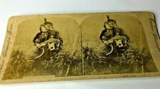 More details for antique stereo view photo card victorian scottish couple tartan kissing