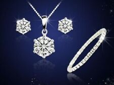 Women's Solitaire Necklace, Bracelet And Earrings Set