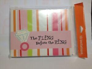 10 Hallmark Bachelorette Party Invites - The Fling Before the Ring! Fantastic!