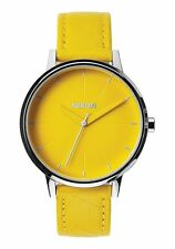 New Women Nixon Kensington Leather Watch | 37 MM | Yellow/Mod | Vintage Inspired