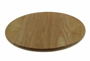 Apollo 35cm Wooden Lazy Susan Rotating Round Serving Plate Table Serving Tray